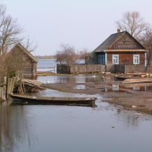 Almost annually the Pripyat floodplain and adjacent villages get flooded.