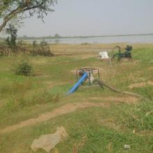 Motopompes utilisées pour l'exode de l'eau
