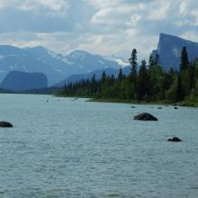 Lake Laitaure, Aktse near Laidaure delta.