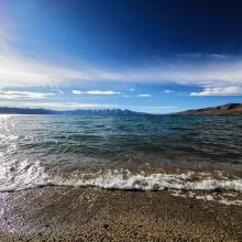 Permanent saline lake