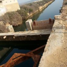 """Lagunas de La Mata y Torrevieja. Canal para el trasvase de salmueras """"Casa de Máquinas"""""""
