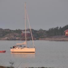 Sailing boat in Lilla Nassa archipelago
