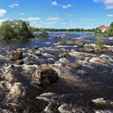 Streams close to Gysinge. In the background Färnebofjärdens visitor centre