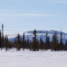 Sjaunja, landscape view.