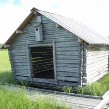 One of many hay barns i Vasikkavuoma