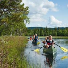 Canoeing in lake Ulen