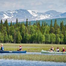 Canoeing in lake Ulen