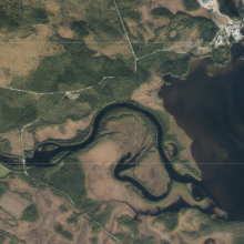 Aerial view of Ulendeltaet
