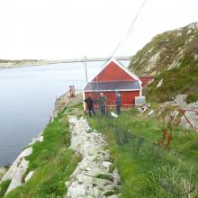 The dock at Sklinna