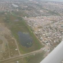 Vista aérea Las Conchas. Enero 2004.