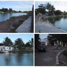 Diferentes etapas de construcción de andadores Laguna La Colorada. Octubre 2003