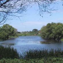 Laguna Los Laureles en lluvias del año 2003