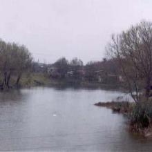Laguna Los Laureles en secas del año 2003