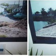 Lagunas La Ilusión y el Ensueño antes y después de construirle andadores y componer el parque 2003