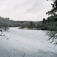 Vallée de la Sûre sous  la neige