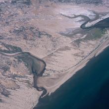 Vista aérea del Estero Las Ánimas