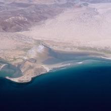 Vista aérea del Estero Guadalupe