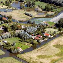 les maisons sur les îles