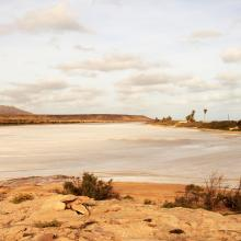 Laguna de Curral Velho in the dry season
