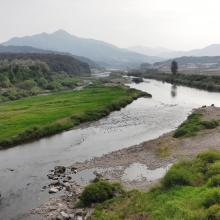 Downstream, south to the Pyeongchang River