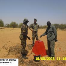 Délimitation de la réserve spéciale d'avifaune du Ndiaël