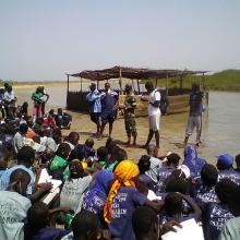 Sortie pédagogique des élèves du Lycée de Palmarin Facao et les amas coquilliers dans la RNCP
