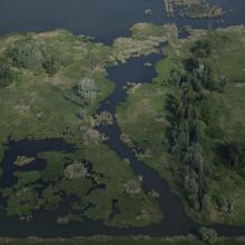 Aerial view of Nyirkai Hany Ramsar Site