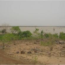 Vue de la mare Doro, plus grand plan d'eau de Magui