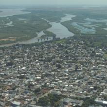 Localidad de Diamante y humedales del sitio Ramsar