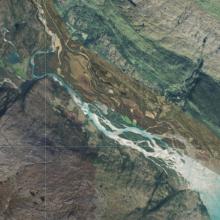 Aerial view of Glomådeltaet
