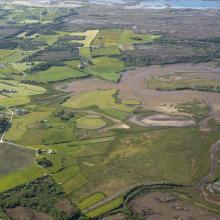 Aerial view of Sandblåst/Gaustadvågen
