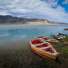 Sitio Ramsar Limarí: Desembocadura Rio Limarí, desde Salala hasta su desembocadura, Región de Coquimbo, Chile. Vista de la amplitud del humedal, sus usos tradicionales y el contraste con su entorno semidesertico