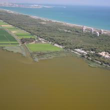 L'Albufera. Vista aérea de la restinga costera