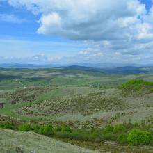The view from Trojan Hill of the area surrounding Peštersko polje
