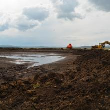 Exploitation of peat