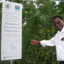 Anada Tiéga, Former Ramsar Secretary General at the Ramsar Site.