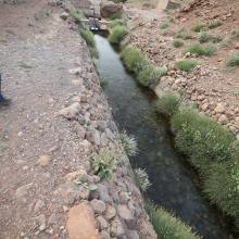 Assif Aït Bou Guemmaz : exemple de résurgence froide aménagée (canalisée)