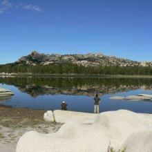 Laguna Hanson (Personal de la CONANP realizando el monitoreo de aves)