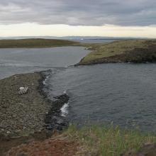 Coastal lagoon at Basisø.
